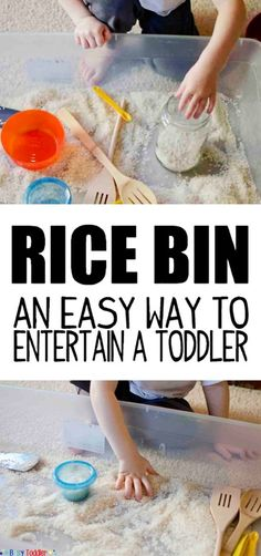 Rice Bin Sensory Play Activity
