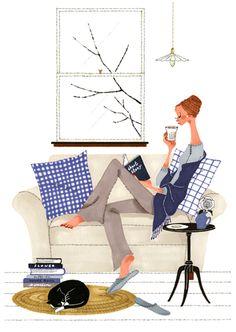 book reading illustration ^^