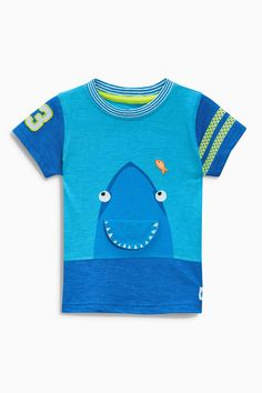 Buy Blue Shark Print T-Shirt (3mths-6yrs) from the Next UK online shop