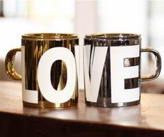 Love Pattern Couple Coffee Mugs, Set of 2 Mugs Couples Coffee Mugs, Couple Mugs, Love Couple, Ceramic Coffee Cups, Mugs Set, Cricut, Ceramics, Tableware, Cute