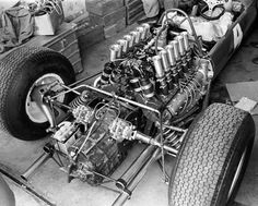 This is Lorenzo Bandini's Ferrari engine, signed by Ferrari Chief Designer Mauro Forghieri. V12 Engine, Motor Engine, Ferrari F1, Ferrari Racing, Vintage Sports Cars, Vintage Race Car, Vintage Auto, Subaru, Formula 1