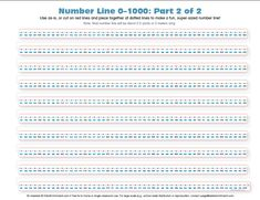 Number Line: 0–1000 - E is for Enrichment