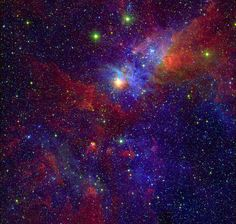New View of the Great Nebula in Carina - NASA Spitzer Space Telescope. (LOVE the depth of color.)