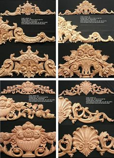 applied carvings mahogany wood by ASIA CARVINGS, via Flickr