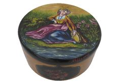 Acacia wooden box. Hand painted  Available at www.romanticdecorativeart.co.uk