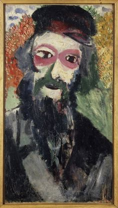 Marc Chagall (1887-1985), Le Père (L'homme barbu), 1911; Huile sur toile de lin, 80x44,2 cm | Centre Pompidou