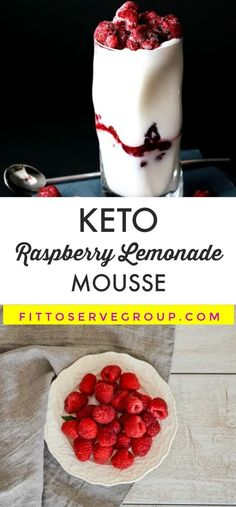 Low Carb Keto Raspberry Lemonade Mousse The combination of the bright lemon and raspberry flavors, along with the silkiness of the cream cheese and cream, makes this keto raspberry lemonade mousse extra special. Raspberry Mousse, Raspberry Lemonade, Keto Friendly Desserts, Low Carb Desserts, Summer Cakes, Summer Desserts, Keto Cookies, Cookies Et Biscuits, Cauliflowers
