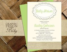 Burlap Baby  Printable Baby Shower by GraphicDesignbyBecky on Etsy, $15.00