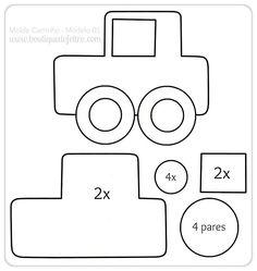 modelo de carrinhos em feltro - Pesquisa Google
