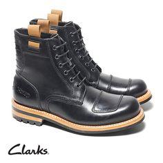 Schwarze Schnürstiefel aus der exklusiven Norton Motorrad Kollaboration, Clarks Norton Rise, 220,00 Euro: http://www.clarks.de/p/26103102