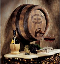 French Wine Barrel Wall Sculpture In my wine room in my basement...