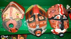 Milk Jug Art-- Mask making. Art For Kids, Crafts For Kids, Arts And Crafts, Summer Camp Activities, 5th Grade Art, Cultural Studies, Handprint Art, Christian School, Masks Art
