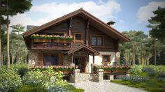Впечатляющая изысканность архитектурных решений домов в стиле шале