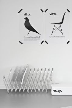Eames Plastic Side Chair, Eames House Bird