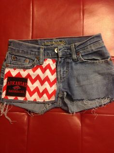 Custom Arkansas Razorback Shorts Chevron Multi Logo on Etsy, $45.00