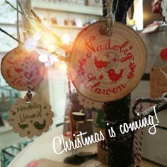 We've started to bring some Christmas decorations out!