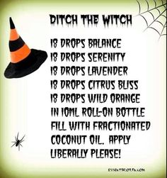 Ditch the Witch - Bad mood diffuser blend