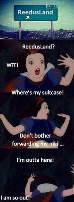 Hahahaha....this is funny because I love my Reedus and I used to be Snow White at WDW!!! Hahaha