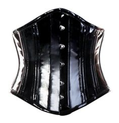 The Violet Vixen - Black Cat Waist Trainer, $88.20 (http://thevioletvixen.com/corsets/black-cat-waist-trainer/)  Wet black PVC corset fused for strength, add steel bones and strong cord lacing and you can tie me up... Racy much?