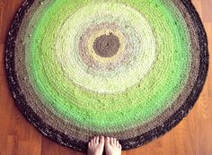 Rag Rug Custom Made for You in Your Colors  4 feet by ekra on Etsy, $260.00