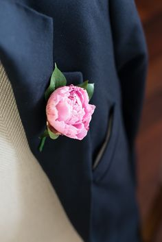 Peony buttonhole - Will and Chris' London Wedding #buttonholes #groom