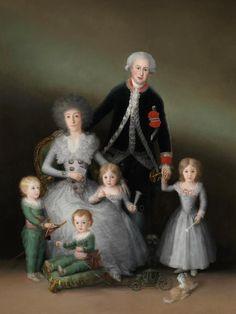 """""""Los duques de Osuna y sus hijos"""" de Goya (1787)"""