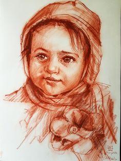 Ritratto a sanguigna   Altamiradecor, bottega d'arte di Franco Pagliarulo