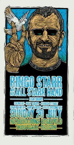 Ringo Starr Concert Poster by Gary Houston - Gary Houston - Gallery