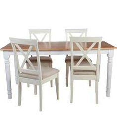 homebase - Ellingham Dining Table and 6 Chairs Sectional Patio Furniture, Patio Furniture Sets, Sectional Sofa, Wicker Sofa, Dining Table Chairs, Dining Sets, Dining Rooms, Home Kitchens, Home Furnishings