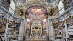 Biblioteca en la Abadía de Admont, Austria