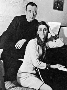 Maya Plisetskaya and her husband composer Rodion Schedrin