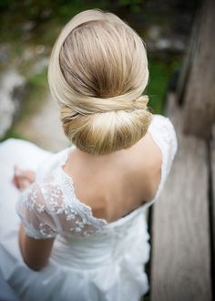 Low wedding hair bun - how perfect! Summer, We're In Love | Styled Shoot in Germany - KnotsVilla