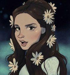 Sometimes, it's enough just to make you feel crazy (((Lana Del Rey 'Love' fan art Cartoon Kunst, Cartoon Drawings, Cartoon Art, Art Drawings, Love Lana Del Rey, Lana Del Ray, Kunst Inspo, Art Inspo, Art Pop