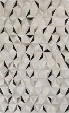 I find Geometric patterns such as this one to be very much illusional. For an interior rug, it would be very eye-catching.