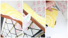 DIY: How to put wallpaper on furniture