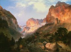 Golden Gate, Yellowstone National Park, Thomas Moran, 1893.  The Lion of Chaeronea