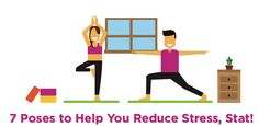Happify have created the infographic 7 Poses To Help You Reduce Stress, Stat!' that are guaranteed to help you de-stress.