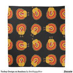 Turkey Design on Bandana