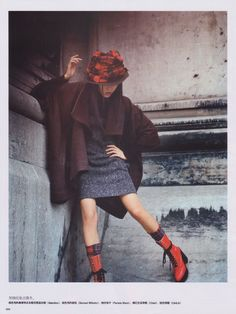 Han Jin by Serge Leblon and styled by Jacob K for Vogue China – January 2008.