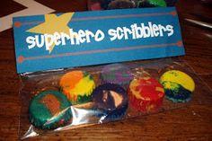 Comic Book Mom: Superhero Scribblers Crayon #Craft and Template