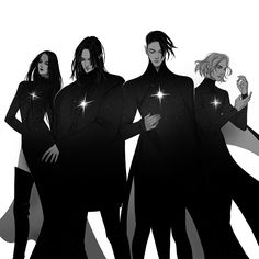 The Fourth – Bethae, Griffin, Ithron and Merope – anime Character Drawing, Character Concept, Concept Art, Fantasy Inspiration, Character Inspiration, Dark Fantasy, Fantasy Art, Severus Rogue, Poses References