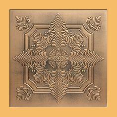 "20""x20"" Novara Antique Bronze Brown Ceiling Tiles, Antique Ceilings- glue up ceiling tiles and drop in grid ceiling tiles- Antique Ceilings-"