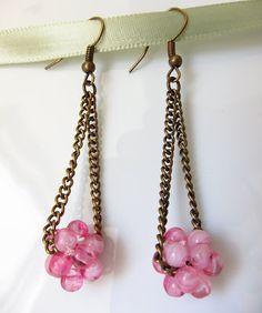 Oksana Plus Hobbies: Beaded Ball Dangle Earrings (Серьги-подвески с шариком из бусин)