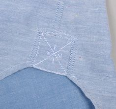 Textile, fabric, denim, reinforcement, shirt, stitched, detail, branding, label