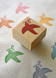 happy bird stamp
