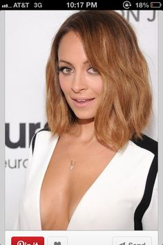 Nicole richie's hair this color is perfect.