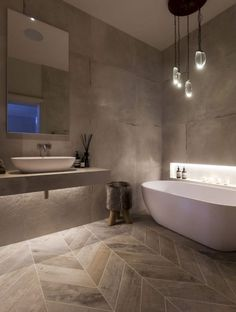 Discover the most effective modern bathroom ideas, designs & inspiration to match your style. Browse through pictures of modern bathroom decor & colours to produce you bathroom design Spa Bathroom Design, Bathroom Spa, Simple Bathroom, Bathroom Ideas, Warm Bathroom, Bathroom Lighting, Spa Inspired Bathroom, Compact Bathroom, Bathroom Pictures
