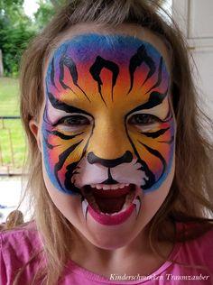 Regenbogen Tiger by Kinderschminken Traumzauber