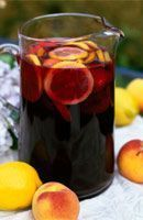 Recipe for Sangria. Sangira is very popular with people on holiday in Spain. It is usually served in big jugs full of chunks of fruit and ice. There are literally hundreds of different recipes for Sangria. Red Moscato, Moscato Sangria, Red Wine Sangria, Fall Sangria, Peach Sangria, White Sangria, Sangria Recipes, Homemade Sangria, Drink Recipes