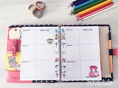 Insert A5 e Personal de colorir. Freebie. Bullet Journal, Journal Diary, Planner Organization, Organizing, Download Planner, My Diary, Hobonichi, Planner Pages, Photo Essay